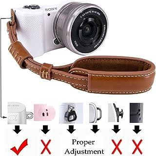 LXH Correa de muñeca con cámara Agarre Cuero PU Sin espejo / DSLR Correa de mano para Sony A6500/A6300/a6000/RX100 V/RX100M III/RX100M4/Fujifilm X30