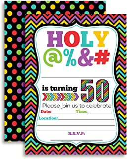 HOLY @% 50th Birthday Party Invitations, 20 Funny 5