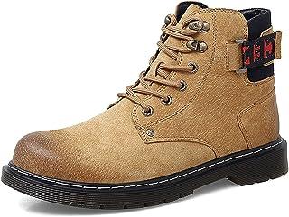 Dytxe Mens Bottines en cuir Casual à lacets Bottines pour Hommes Automne Et Hiver Chaussures de Travail Chaussures Bottines