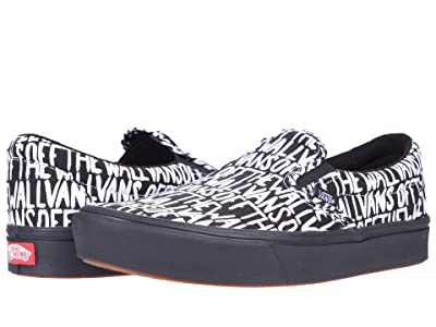 Vans ComfyCush Slip-On ((Brush) Black/True White) Athletic Shoes