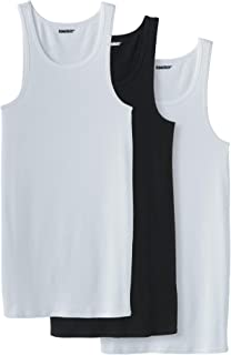 KingSize Men's Big & Tall Cotton Tank Undershirt 3-Pack