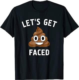 Let's Get Shit Faced Funny St Patrick's Day Poop Emoji Shirt