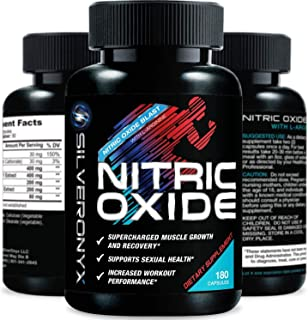 Extra Strength Nitric Oxide Supplement L Arginine 1300mg - Citrulline Malate, AAKG, Beta Alanine - Premium Muscle Building...