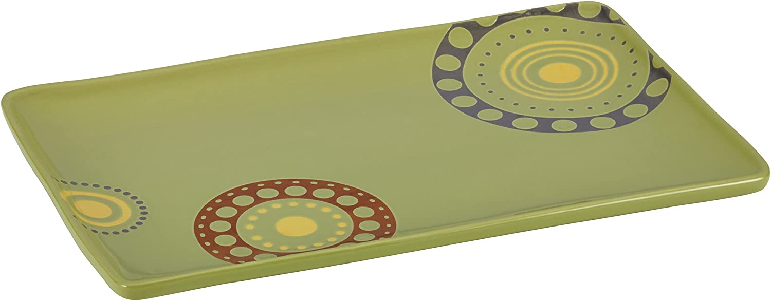 Rachael Ray Stoneware 12.75-Inch x 8-1 Dots 2021 spring and summer new 4-Inch Now on sale Circles R
