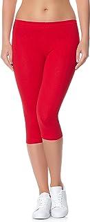 Ladeheid Leggins 3/4 Pantalones Piratas Ropa Deportiva Mujer LAMA01