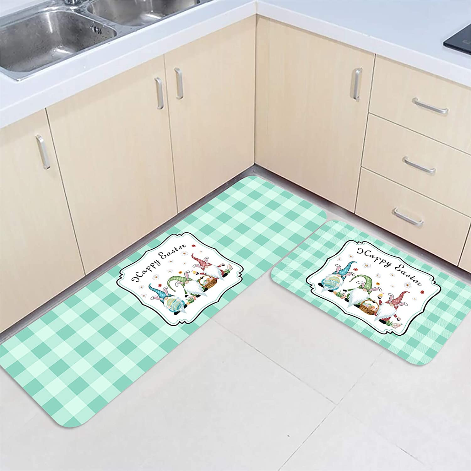 2 Pieces Kitchen Mats Floor Area Easte Special price for a Bargain sale limited time Set Non-Slip Doormat Rug