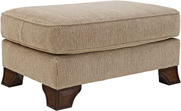 Signature Design by Ashley -  Lanett Traditional Plush Top Foot Rest Ottoman, Barley