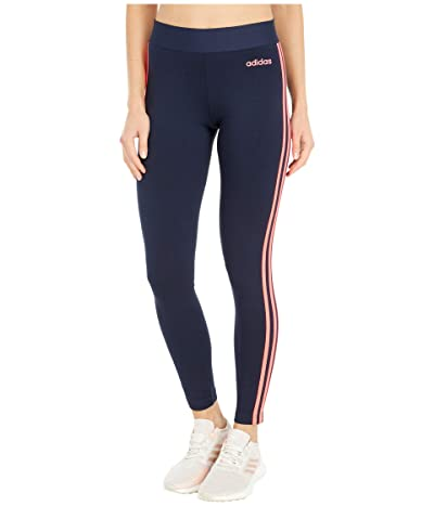 adidas Essential 3-Stripes Long Tights (Legend Ink/Signal Pink) Women
