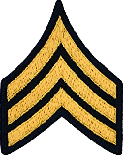 Sergeant E-5 Army Chevrons - Gold on Blue
