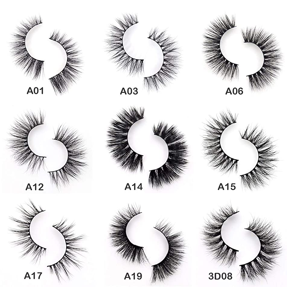 3D Eyelashes Mink Eyelashes Crossing Mink Handmade Eyelashes Full Strip Eyelashes 34 Styles New Cilia Pack Natureis,visofree,A01