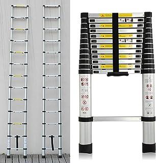 12.5 FT Aluminum Telescopic Extension Ladder, Telescoping Ladder, Multi Purpose Ladder, EN131 Certified Extendable Ladder ...