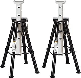 Omega 32107B Black High Lift Jack Stand - 10 Ton Capacity