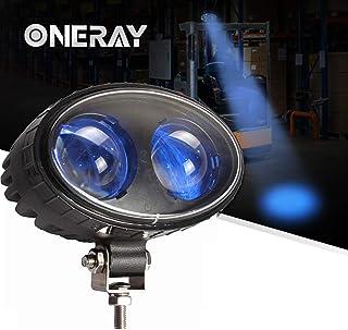 ONERAY Led Forklift Safety Light 8w Blue Spot Lights for Warehouse Warning Spot Light Cree Chip DC10-100V 250LM 5.5inch
