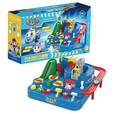 BINMUO Toys Garage Playset | Big Adventure Car ...