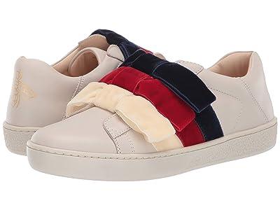 Gucci Kids Ace Bow Sneaker (Little Kid) (White/Multi) Girl