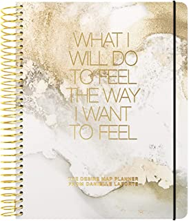 The Desire Map 2019 Undated Planner by Danielle LaPorte (Gold and White)