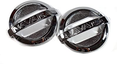 Chrome Side Lamp Side Vents Indicator Cover For Nissan Frontier Navara D40 Pickup 2005-2014