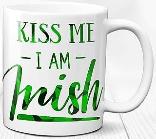 Taza de café de la muchacha irlandesa del hombre irlandés orgulloso de ser irlandés Taza de regalo de cerámica de 330 ml I...