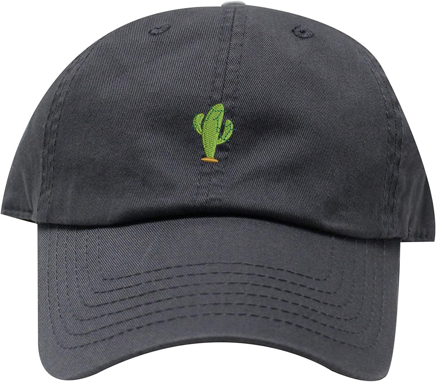 INK STITCH Cactus Embroidered Logo Unstructured Baseball Caps - 21 Colors