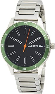 Lacoste Key West Men's Black Dial STAINLESS STEEL Band Watch - 2011009