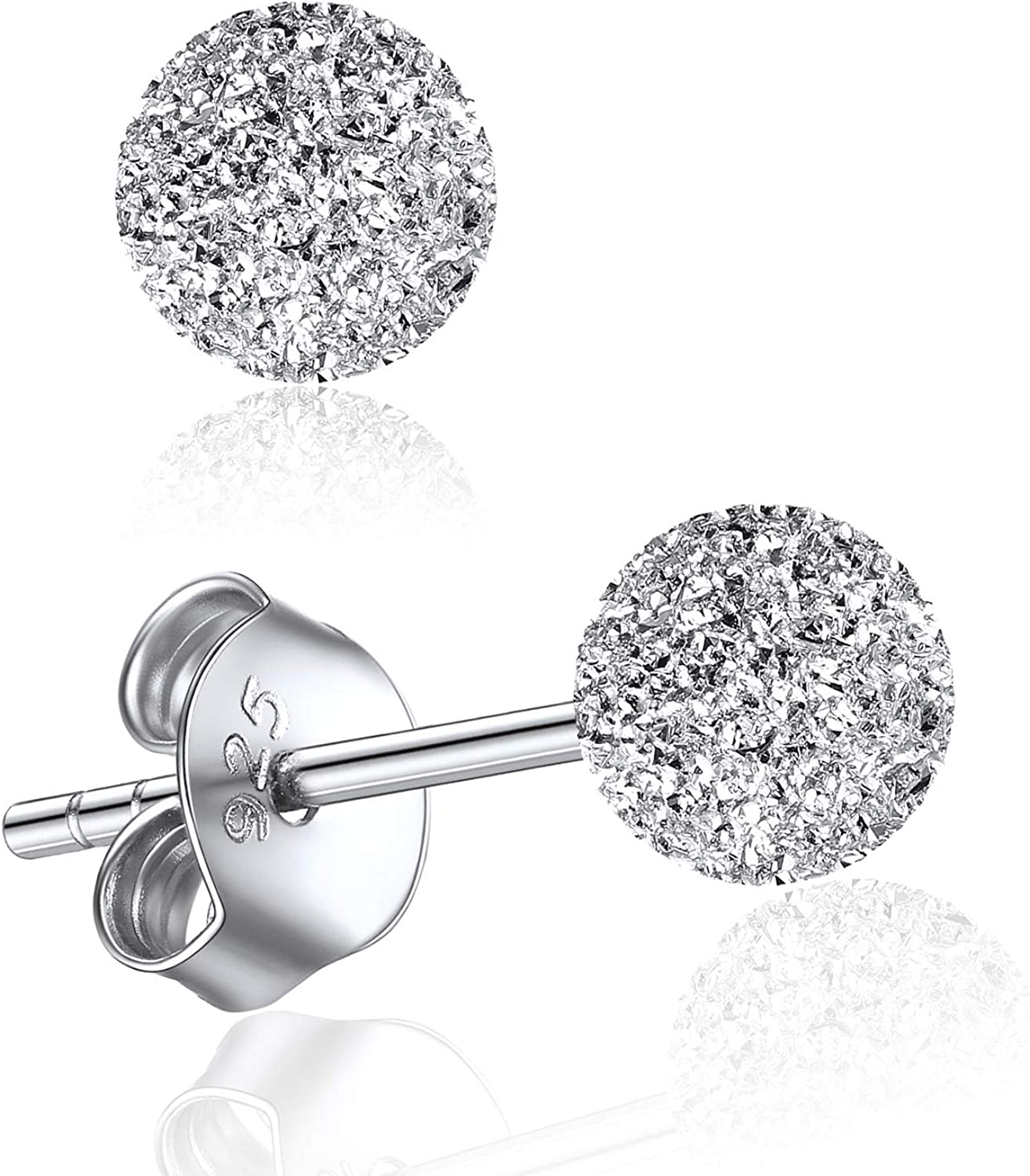 Sale ChicSilver Hypoallergenic 925 Sterling Silver security 3 7MM Ball Stud 5