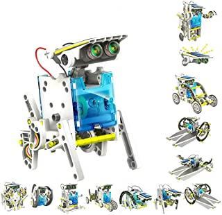 STEM 13-in-1 Education Solar Robot Kits Toys -DIY Building Science Experiment Kit for Kids Robotics Kits Solar Powered by ...