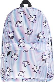Aigemi School Backpack for Girls,Fashion Unicorn Student School Backpack,Casual Shoulder Bag