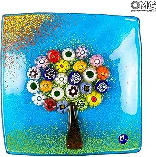 The Tree of Life - Plate Empty Pocket - Original Murano Glass Millefiori