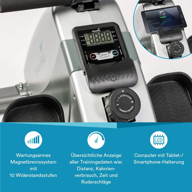 skandika Regatta Multi Gym Poseidon/Oxford Rudergerät - Trainingscomputer