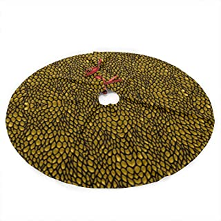 NINAIN Gold Dragon Scales Christmas Tree Skirt 35.5 Inch Merry Christmas Tree,Tree Skirt for Xmas Decor Festive Holiday Decoration