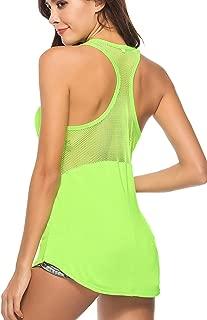 Womens Yoga Tops Muscle Mesh Shirts Sleeveless Workout Tank Sports Activewear Tank Tops