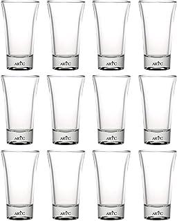ARTC 12 Pieces Double Tequila Shot Glass Bar Glass Shot Vodka Liquor Glass Party