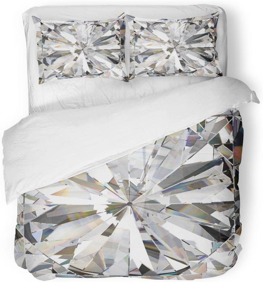 SanChic Duvet Cover Superior Set Blue Realistic Caustic Crystal 3 Diamond Regular discount