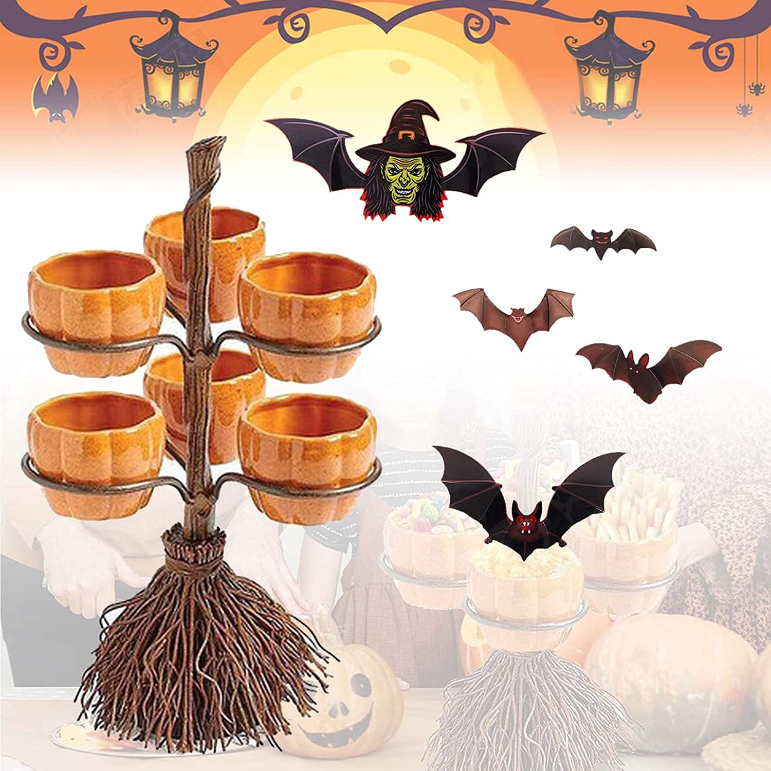 2021 Pumpkin Snack Bowl New Free Shipping Stand Novelty Dealing full price reduction Snac Halloween Set
