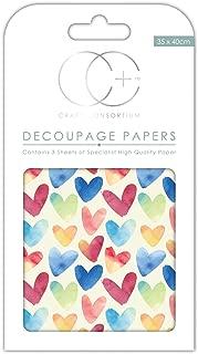 Craft Consortium Premium découpage papiers–Ananas Doré Craft Consortium Ltd