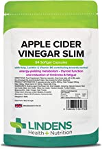 Lindens Apple Cider Vinegar Slim Capsules 84 Pack Contributes to Healthy Metabolism Healthy Thyroid Function Reduction of Tiredness Fatigue Estimated Price : £ 7,39