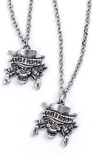 Guns N' Roses Skull Necklace & Bracelet Set
