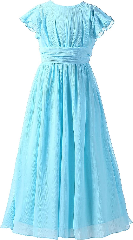 Happy Rose Bridesmaid Dress Prom Party Dresses Long Flower Girls Dress