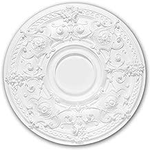 Rosace 156040 Profhome /Élement d/écorative /Élement pour plafond style N/éo-Empire blanc /Ø 70,7 cm