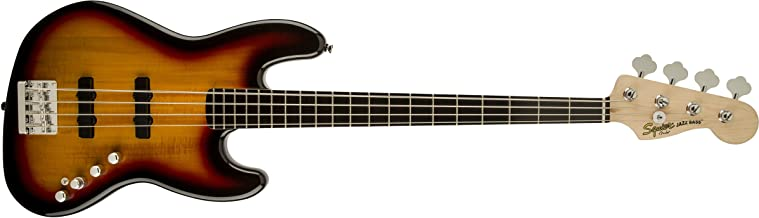 Squier by Fender Deluxe Active Jazz Bass IV String, 3 Tone Sunburst