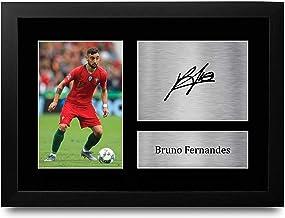 HWC Trading FR A4 Bruno Fernandes Portugal geschenken afgedrukt ondertekende handtekening foto voor fans en supporters - A...