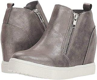 0c049c8140fc Seraih Womens Platform Wedge Sneakers Ankle Heels High Top Side Zipper  Height Increasing Platform Booties