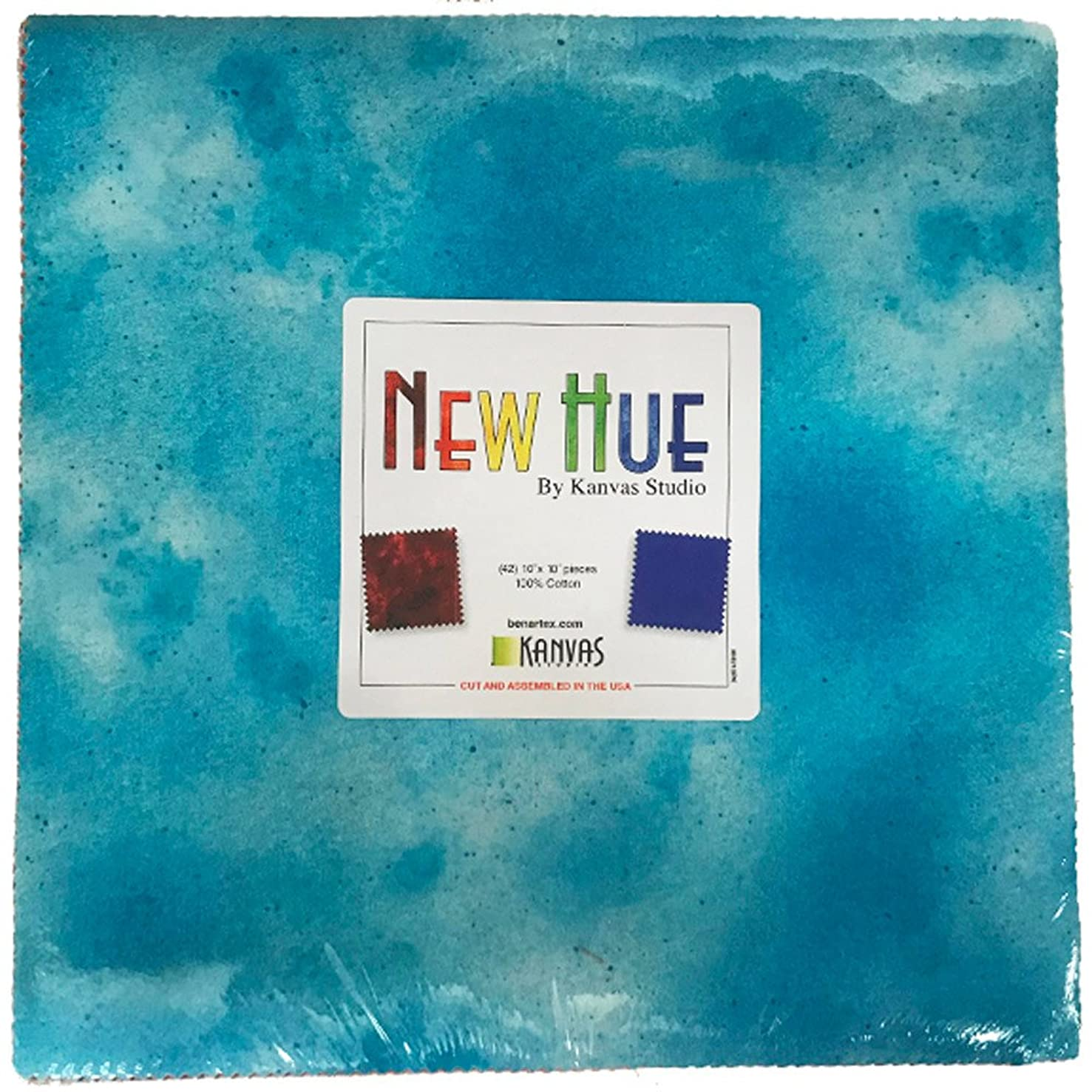 New Hue 10X10 Pack 42 10-inch Squares Layer Cake by Benartex