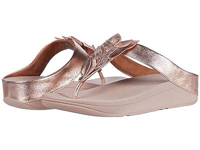 FitFlop Fino Leaf Toe-Thongs (Rose Gold) Women