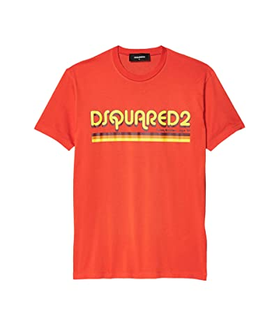 DSQUARED2 Retro Logo T-Shirt (Orange) Men