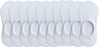 CHUNG Toddler Little Boys Girls Thin No Show Liner Cotton Socks Multi Solid Color White Summer 10 Pack 2-8Y