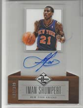 2012-13 Panini Limited Basketball Iman Shumpert Die-Cut Acetate Auto Card # 136/349