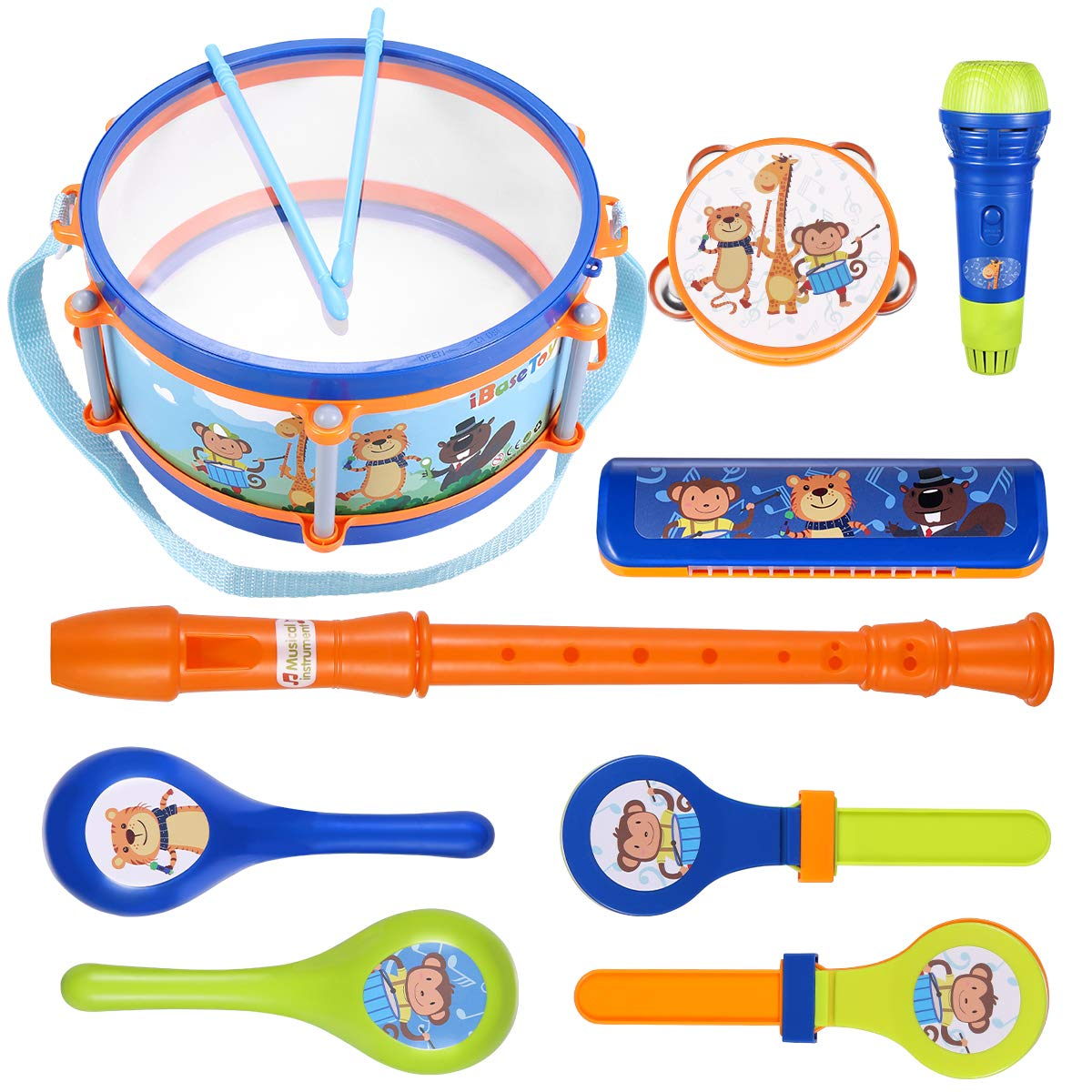iBaseToy Instruments Percussion Tambourine Educational
