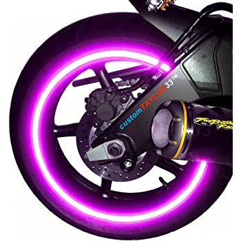 """customTAYLOR33 New Special Edition Purple High Intensity Grade Reflective Copyrighted Safety Rim Tapes, 17"""" (Rim Size for Most SportsBikes)"""