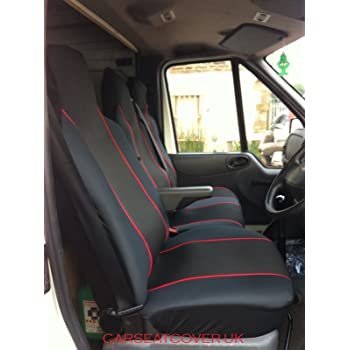 Rhinos-Autostyling FOR VW VOLKSWAGEN CRAFTER 2019 Premium Van Seat Covers Single Drivers And Double Passengers Seat Covers 2 Black Quilted Diamond Leather 1